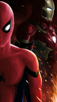 Spider-Man-and-Iron-Man-iPhone-Wallpaper - IPhone Wallpapers