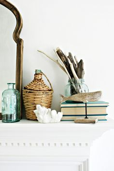I love the breezy feel of coastal decor with its soft blue tones and collection of natural elements. Come check out my relaxed beach day of summer living room decor at www.One-ThousandO… We are want to say thanks if you like to share this post to. Coastal Farmhouse, Coastal Cottage, Coastal Homes, Coastal Decor, Farmhouse Decor, Coastal Interior, Seaside Decor, Coastal Style, Modern Farmhouse