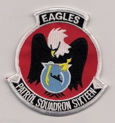 USN VP-16 EAGLES patch ( P-3 ORION MARITIME PATROL SQN )