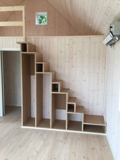 Awesome, can still extend room out and insert a small sliding door on bottom end of stairs to go in bathroom
