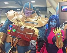 Thanos cosplay by Cinema Makeup Schools/Mick Ignis, Nebula (Infinity Gauntlet) cosplay by Geek Piñata