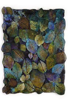 lesley richmond ~ leaf cloth1 : leaf cloth series .. mixed process fiber .. see detail http://www.pinterest.com/pin/526921225125444111/