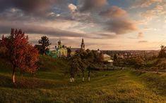 壁紙をダウンロードする transcarpathia, ウクライナ, ニコラス修道院, 夜, ウクライナの村