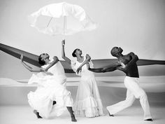 alvin ailey dancers ~ Revelations... my favorite!  Brings me to tears every time I see it performed.