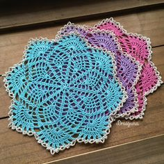 "This doily is 15 rounds and measures 7 1/2"".  A version of this doily with a picot border is available here .  Materials-    size 10 thre..."