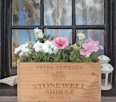 Caissette de vin pour bac à fleurs