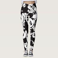 56dd473eefcfe Mickey & Friends | Classic Mickey Pattern Leggings Printed Leggings, Custom  Leggings, Patterned Leggings