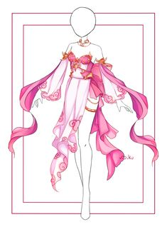 Manga Clothes, Drawing Anime Clothes, Dress Drawing, Cosplay Outfits, Anime Outfits, Anime Girl Dress, Dress Sketches, Fashion Design Drawings, Fantasy Dress