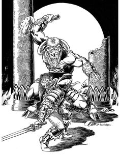 Eric Lofgren Presents: Minotaur Duel - Misfit Studios | Eric Lofgren | Publisher Resources | DriveThruRPG.com The Minotaur, Stock Art, Art File, Misfits, All Art, Art Images, Presents, Creatures