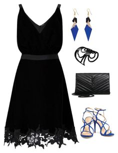 """Untitled #1159"" by netteskytte on Polyvore featuring Schutz, Miss Selfridge, Yves Saint Laurent and Toolally"