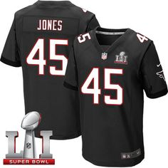 Nike Falcons #45 Deion Jones Black Alternate Super Bowl LI 51 Men's Stitched NFL Elite Jersey