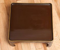 Set of Four 1970s Lacquered Stacking Tables in the Chinese Style 3
