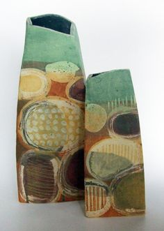 Like the abstract design on the vessels and the color palette :-) Mollie Brotherton's TerrainVallonne on Etsy.