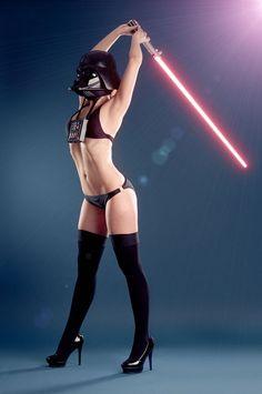 Bikini Vader Lightsaber Stretch [Cosplay]