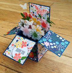 Thank you card in a box by Colleen Tyler @ maplesyrupdesigns