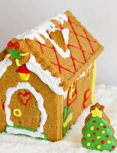 Cómo hacer una casita de jengibre paso a paso. Receta de Navidad Cookies, Canning, Desserts, Crafts, Gingerbread Houses, Food, Sweet Sweet, Christmas Recipes, Ideas Para