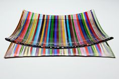 Deckchair Stripes Bowl - 25cms -- by Ruth Shelley