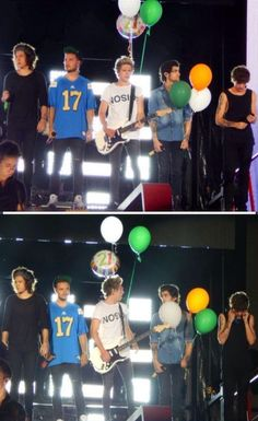 Niall's birthday balloons, Rose Bowl 9/13. Why is this so adorable?!