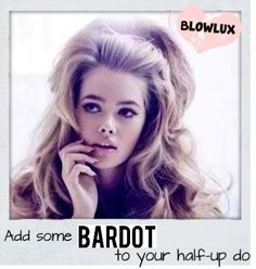 Add some BARDOT to your Half-Up Do