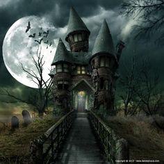 Spooky House by Daniel Sinoca - Photoshop Creative