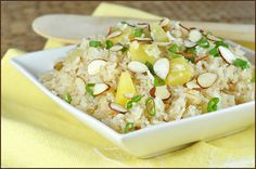 My friend Alicia mentioned making pineapple rice the other day. I was immediately intrigued and went Googling. I found several, but this one seemed to do it for me, for whatever reason. Maybe because Jaden is a trusted source and I liked the short list of ingredients. Or maybe because it included se