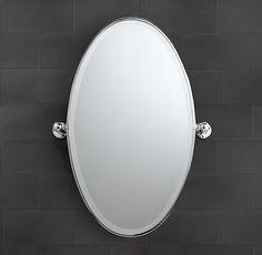 """Vintage Oval Pivot Mirror 25.5""""W x 36""""H"""