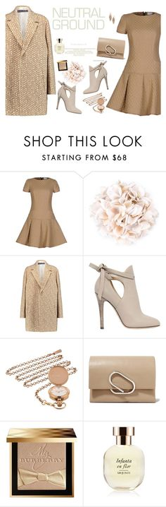 """""""Neutrals"""" by lence-59 ❤ liked on Polyvore featuring RED Valentino, DressCamp, Rochas, Jimmy Choo, Ted Baker, 3.1 Phillip Lim, Burberry, Arquiste Parfumeur, Kendra Scott and neutrals"""