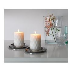 IKEA - RUTIN, Scented block candle, Sweet floral notes with a touch of honey and wood recreate memories of warm summer nights.