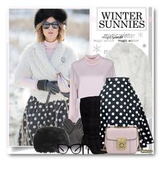 """""""Polka Dots and Winter Sunnies"""" by brendariley-1 ❤ liked on Polyvore featuring Sonia Rykiel, K-Way, GUESS, Chloé, AGNELLE, Topshop, Dolce&Gabbana and wintersunnies"""