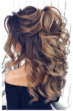 Long Hair Wedding Styles, Wedding Hair Down, Wedding Hair And Makeup, Long Hair Styles, Half Up Half Down Wedding Hair, Formal Hair Down, Hairdo Half Up, Hair Styles For Formal, Half Up Long Hair