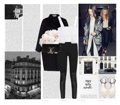 """""""Enjoy every moment :)"""" by rikka-alicia ❤ liked on Polyvore featuring Oris, Joie, Emilio Pucci, French Connection, Aquazzura, Louis Vuitton, 3.1 Phillip Lim, YSL, blackandwhite and gigihadid"""