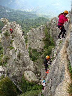 Sport Mountain: Vías Ferratas en la Serranía de Ronda- Vía Ferrata Gaucín Una de las más atractivas y activas. #SportMountain #VíaFerrata #Adrenalina