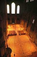 Chartres Cathedral --  I have walked a labyrinth with the same design in the woods in Victor, Montana--very moving