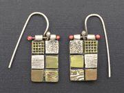 Collage Earrings by Hadar Jacobson