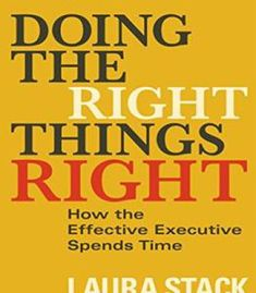 Doing The Right Things Right: How The Effective Executive Spends Time PDF