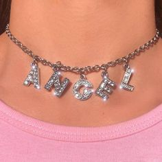 Big Letter Bling Choker Halskette mit kostenlosem Geschenkkarton Kundenspezifische Briefe Big Letter Bling Choker Necklace with free gift box Custom letters available P. Boujee Aesthetic, Bad Girl Aesthetic, Aesthetic Collage, Aesthetic Vintage, Aesthetic Clothes, Angel Aesthetic, Baby Pink Aesthetic, Aesthetic Outfit, Aesthetic Beauty
