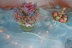 Winterhochzeit in Eisfarben, hellblau, rosé, pastellgrün - Winter wedding frozen colours with fairy lights