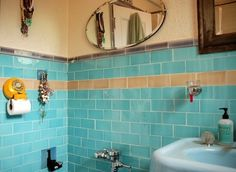 Find Room for a Full Bath. Because it's generally not the main bathroom for the house, a basement bathroom doesn't have to be large. An area about 35 square feet can accommodate a toilet, vanity, and shower or bathtub. Building codes allow ceiling heights of 84 inches--6 inches lower than other living areas.