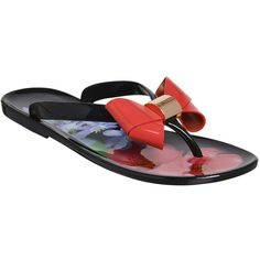 95e0d6cd8ec128 The Ettiea flip flop by Ted Baker is a stylish sandal with bow detailing  and and signature Ted Baker branding.
