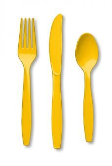 Yellow Cutlery