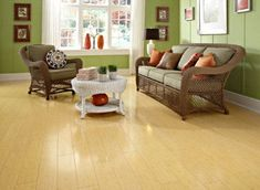 Want this floor for the kitchen, bathroom and hallway. 12mm Horizontal Natural Bamboo Laminate