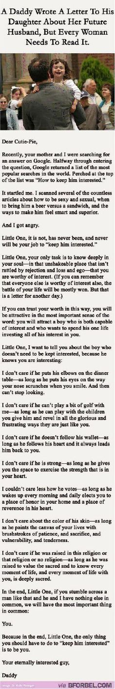 """Love this. My husband sent it to our daughter this morning. And he added, """"This applies to your friendships as well..."""""""