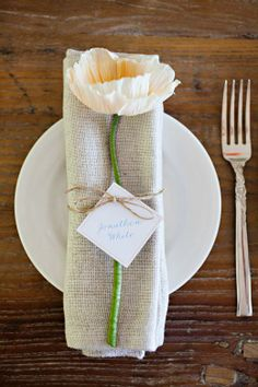 Poppy placecard