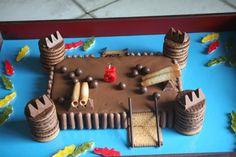 Château fort avec deco biscuits commerce