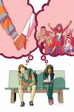 Ms. Marvel #18 - Cover by Kris Anka