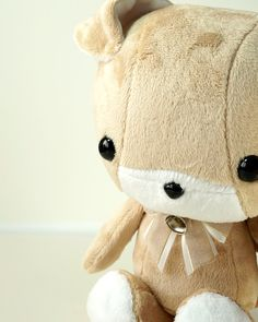 Cute Dog Plush Stuffed Animal Toy Brown w White by BellziPlushie, $40.00