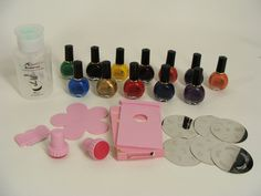 $84.44 #Konad LOT-12 Special Nail Polish 10ml Bottles, 6 Image Plates, 2 Stamps, 1 Scraper, 1 Palette, 1 Image Plate Holder, 1 Touch Remover Bottle by wardrobetheglobe on Etsy