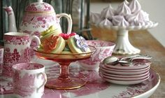 Tea for Two ~ Pink Willowware