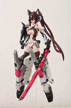 3d Figures, Action Figures, Character Concept, Character Design, Mecha Suit, Zbrush, Frame Arms Girl, Gundam Custom Build, Robot Girl