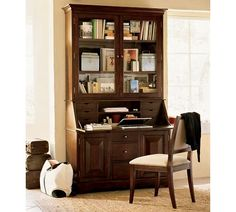 Graham Desk & Hutch | Pottery Barn. LOVE THIS!!!